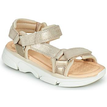 Schoenen Meisjes Sandalen / Open schoenen Geox J SANDAL LUNARE GIRL Beige