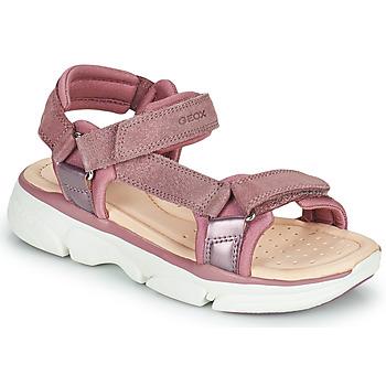 Schoenen Meisjes Sandalen / Open schoenen Geox J SANDAL LUNARE GIRL Roze