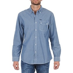 Textiel Heren Overhemden lange mouwen Lee Cooper Greyven Blauw