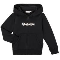Textiel Jongens Sweaters / Sweatshirts Napapijri B-BOX FZH Zwart