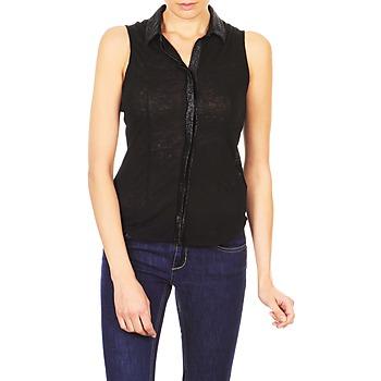Textiel Dames Overhemden korte mouwen Majestic ZOE Zwart