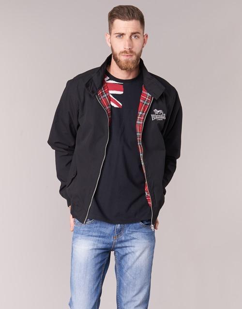 Textiel Heren Wind jackets Lonsdale HARRINGTON Zwart