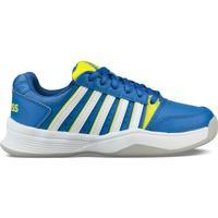 Schoenen Kinderen Tennis K-Swiss Chaussures enfant  ks tfw court smash bleu foncé/jaune/blanc