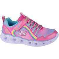 Schoenen Kinderen Lage sneakers Skechers Heart Lights-Rainbow Lux Rose