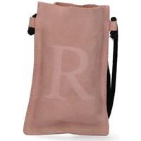 Tassen Dames Handtassen kort hengsel Luna Collection 57799 roze