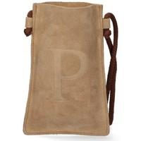 Tassen Dames Handtassen kort hengsel Luna Collection 57795 Bruin