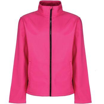 Textiel Heren Windjack Regatta RG627 Heet Roze/Zwart