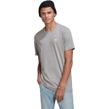 Textiel Heren T-shirts korte mouwen adidas Originals T-shirt adidas Essential gris clair/blanc