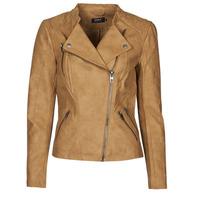Textiel Dames Leren jas / kunstleren jas Only ONLAVA Camel
