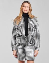 Textiel Dames Jasjes / Blazers Moony Mood PABLAINCOURS Zwart / Wit