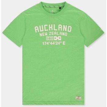 Textiel Heren T-shirts & Polo's New Zealand Auckland Te Au 21CN712 Groen