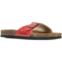 Schoenen Dames Leren slippers Les Petites Bombes Rosa Rood