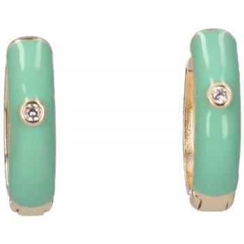 Horloges & Sieraden Dames Oorbellen Luna Collection 57414 groen