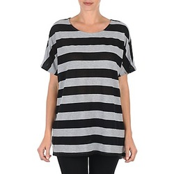 Textiel Dames T-shirts korte mouwen Vero Moda CHELLA 2/4 LONG TOP KM Grijs / Zwart