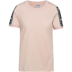 Textiel Dames T-shirts korte mouwen Diadora 502175812 Roze