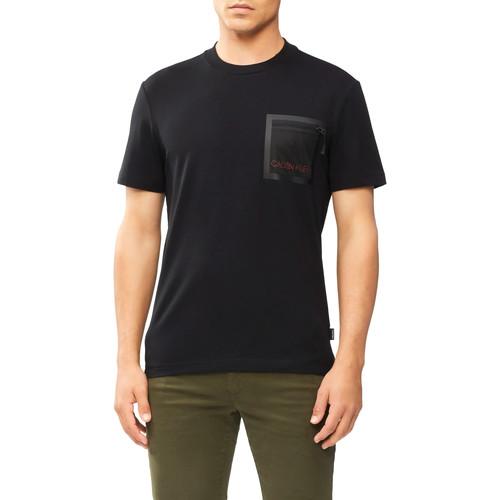 Textiel Heren T-shirts korte mouwen Calvin Klein Jeans K10K106495 Zwart