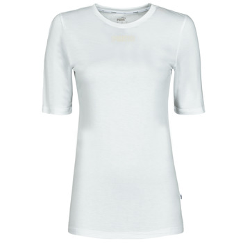 Textiel Dames T-shirts korte mouwen Puma MBASIC TEE Wit