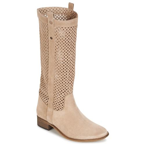 Schoenen Dames Hoge laarzen Betty London DIVOUI Beige