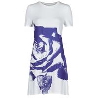 Textiel Dames Korte jurken Desigual WASHINTONG Wit / Blauw