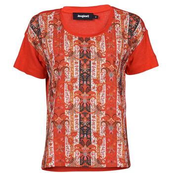 Textiel Dames T-shirts korte mouwen Desigual LOMBOK Multicolour