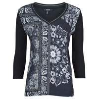 Textiel Dames T-shirts korte mouwen Desigual VARSOVIA Multicolour