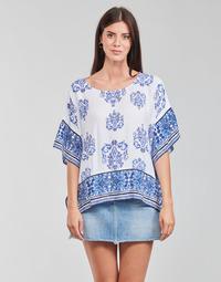 Textiel Dames Tops / Blousjes Desigual ANDES Wit / Blauw