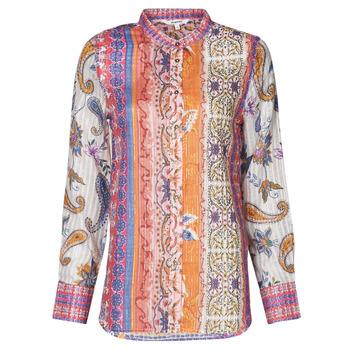 Textiel Dames T-shirts met lange mouwen Desigual BOHO Multicolour