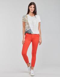 Textiel Dames 5 zakken broeken Desigual ALBA Rood