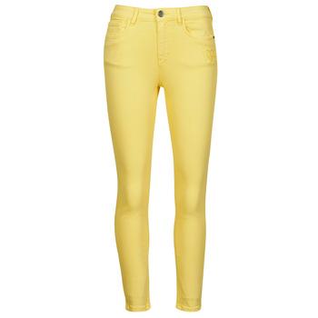 Textiel Dames 5 zakken broeken Desigual ALBA Geel