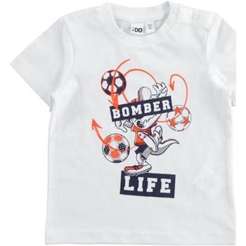 Textiel Jongens T-shirts korte mouwen Ido 42041 Bianco