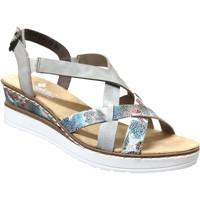 Schoenen Dames Sandalen / Open schoenen Rieker V3809 Meerkleurig grijs