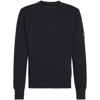 Textiel Heren Sweaters / Sweatshirts Calvin Klein Jeans Monogram Sleeve Badge Zwart
