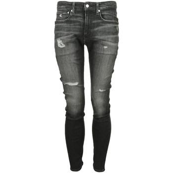 Textiel Heren Skinny Jeans Calvin Klein Jeans Jean Skinny Zwart