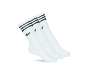 Ondergoed High socks adidas Originals SOLID CREW SOCK X3 Wit