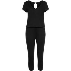 Textiel Dames Jumpsuites / Tuinbroeken Lascana Jersey broekpak Parelmoer Zwart