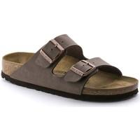 Schoenen Heren Leren slippers Birkenstock ARIZONA Beige