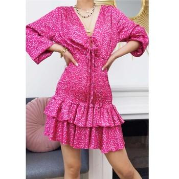 Textiel Dames Korte jurken Fashion brands 22974-FUSHIA Fushia