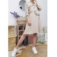 Textiel Dames Korte jurken Fashion brands CD2293-BEIGE Beige