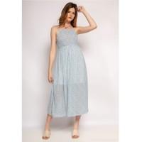 Textiel Dames Lange jurken Fashion brands 571-BLEU-CLAIR Blauw / Clair