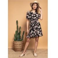 Textiel Dames Korte jurken Fashion brands 2145A-NOIR Zwart