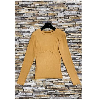 Textiel Dames Tops / Blousjes Fashion brands HD-2813-N-BROWN Bruin