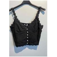 Textiel Dames Tops / Blousjes Fashion brands 6133-BLACK Zwart
