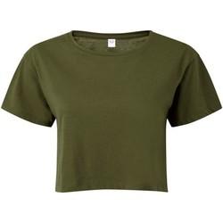 Textiel Dames Tops / Blousjes Tridri TR019 Olijf