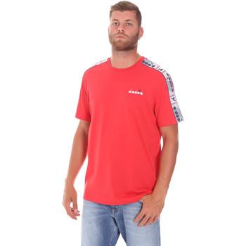 Textiel Heren T-shirts korte mouwen Diadora 502176085 Rood