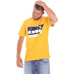 Textiel Heren T-shirts korte mouwen Diadora 502175835 Geel