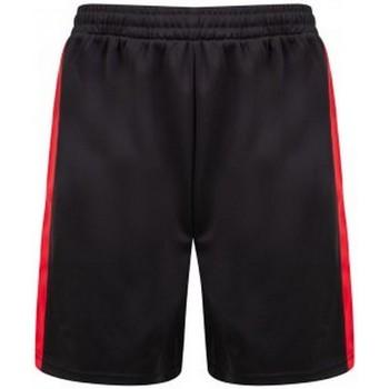 Textiel Heren Korte broeken / Bermuda's Finden & Hales LV885 Zwart/Rood