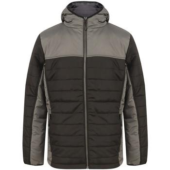 Textiel Heren Dons gevoerde jassen Finden & Hales LV660 Zwart/Gunmetaalgrijs