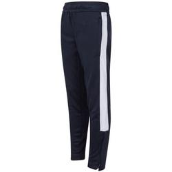 Textiel Kinderen Trainingsbroeken Finden & Hales  Marine / Wit