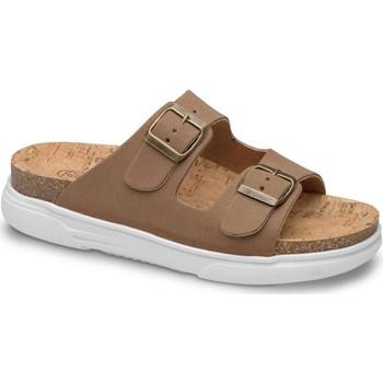 Schoenen Dames Leren slippers Feliz Caminar SANDALIA BELONA - Bruin