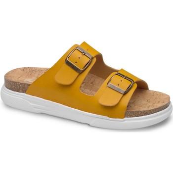 Schoenen Dames Leren slippers Feliz Caminar SANDALIA BELONA - Geel